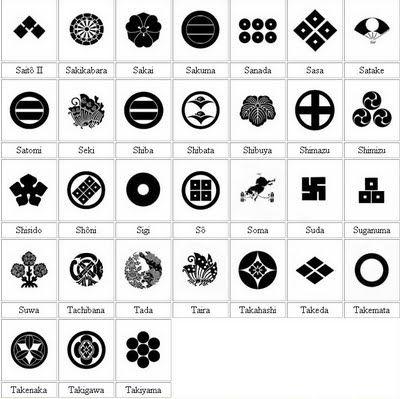 The japanese heraldic symbols geometric pinterest symbole de la famille simple et symboles - Symbole representant la famille ...