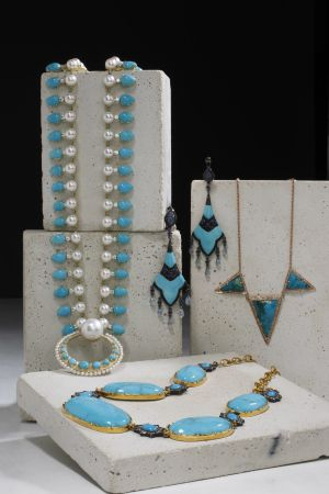 Turquoise Jewelry Trend - designers update an old favorite.