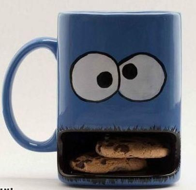 Cookie monster cup.