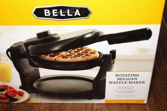 NEW Bella Rotating Belgian Waffle Maker
