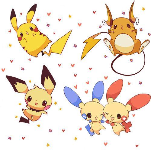 Pikachu, Raichu, Pichu, Plusle, Minun | Tattoo Inspiration ...
