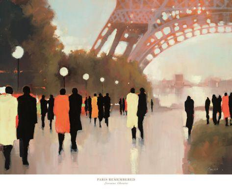 Paris Remembered Print by Lorraine Christie at Art.com