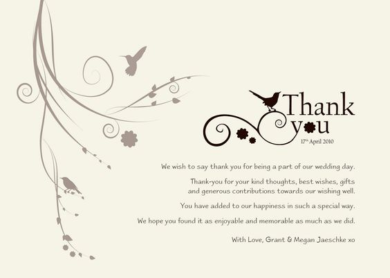 Wedding Thank You Templates Free – Thank You Template Free