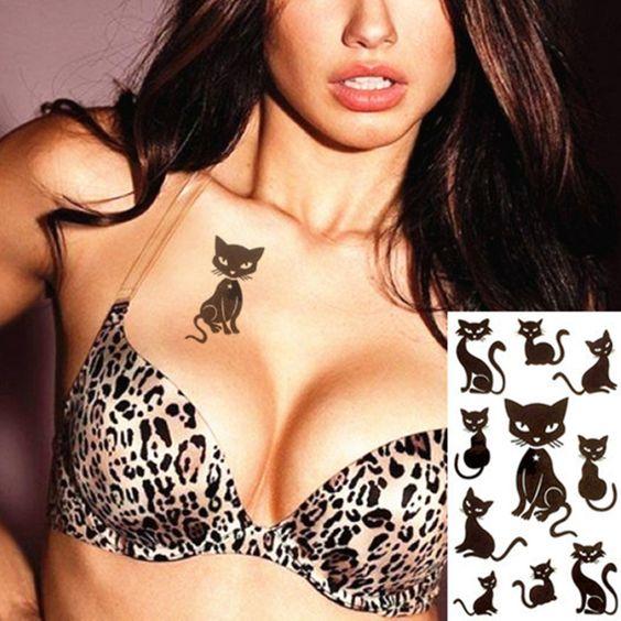 Cats Temporary Tattoo Body Sticker