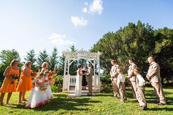 Brett Simpson Photography - outdoor ceremony, citrus inspired wedding