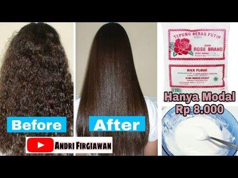 Cara Meluruskan Rambut Kriting Dengan Cepat Dan Permanen Menggunakan Tepung Beras Youtube Rambut Lurus Kecantikan Rambut Rambut
