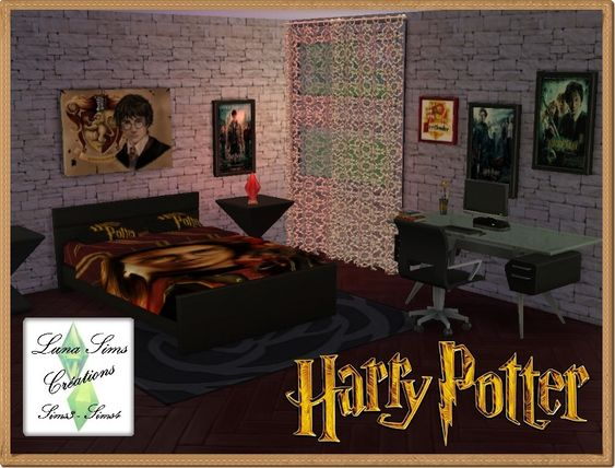 Ensemble chambre harry potter luna sims mes for Chambre harry potter