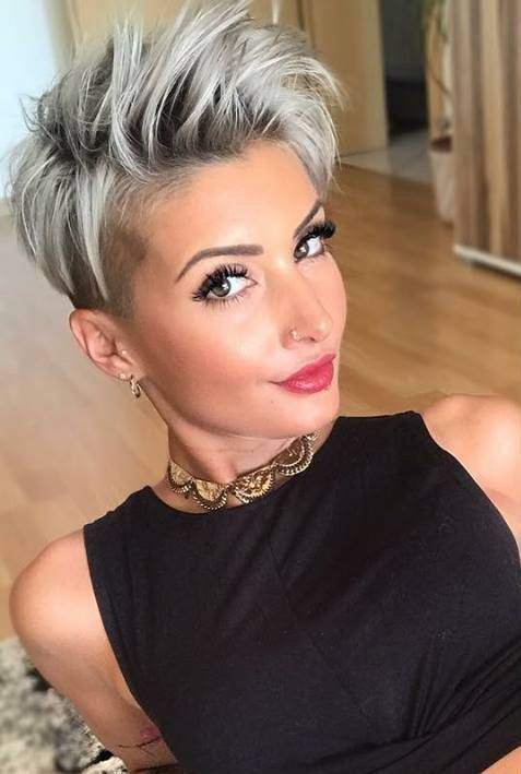 New Short Hairstyles For 2019 Bobs And Pixie Haircuts In 2020 Thick Hair Styles Hair Styles Short Hair Styles Pixie