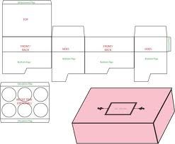 cupcake box templates free download - Google Search