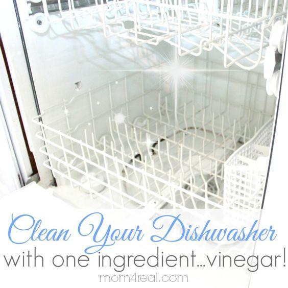 get a super clean dishwasher with vinegar saubere sp lmaschine mama und tassen. Black Bedroom Furniture Sets. Home Design Ideas