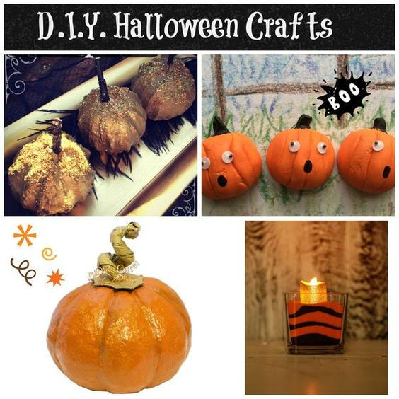 Crafts halloween decorations and paper mache clay on for Make your own halloween decorations