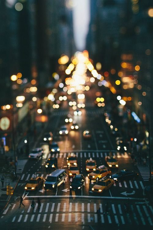 Big city, bright lights.
