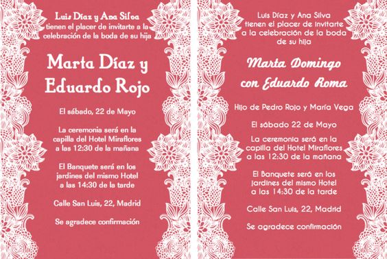 spanish wedding invitation wording wedding ideas pinterest spanish wedding invitations spanish wedding and invitation wording - Spanish Wedding Invitation Wording