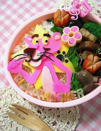 ピンクパンサーのキャラ弁