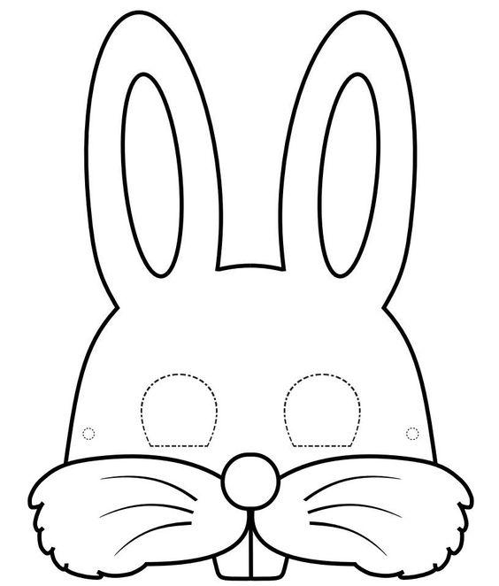 caretas de conejo - Buscar con Google                                                                                                                                                      Más
