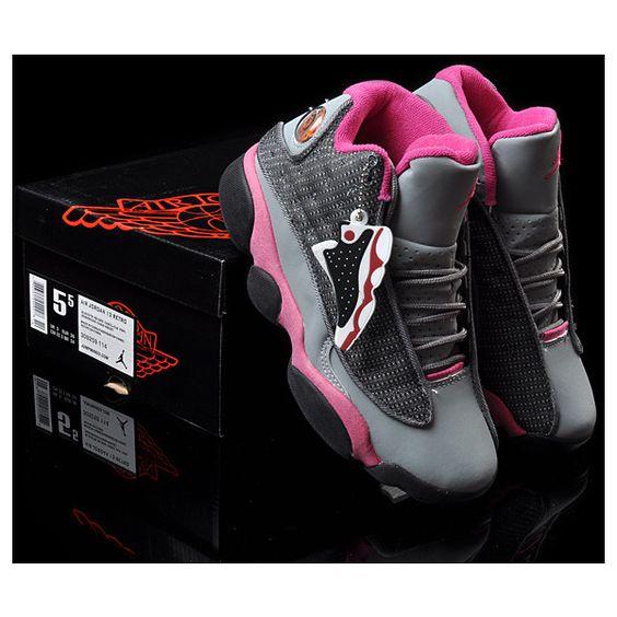 nike air max bord 11 - Women\u0026#39;s Nike Air Jordan 13 Retro Sneakers Grey/Rose Red WJ13-001 ...