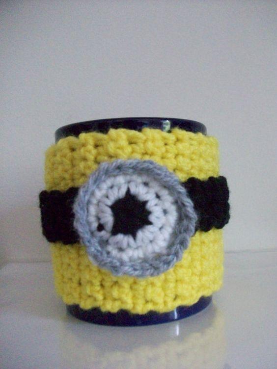 Minion Inspired Mug Cozy
