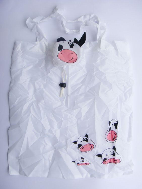 Sacola Animal - Vaca/Branco