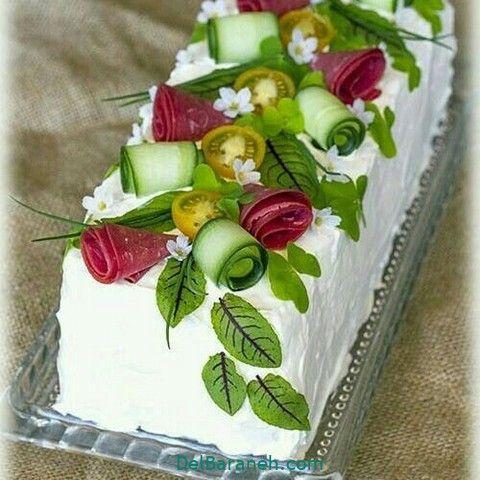 تزیین سالاد الویه مهمانی ۵۰ مدل تزیین الویه ویژه تولد و جشن Food Decoration Olivier Salad Food