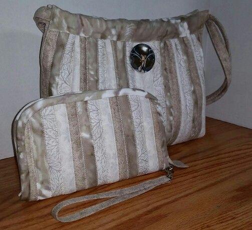 Tan and white purse :)