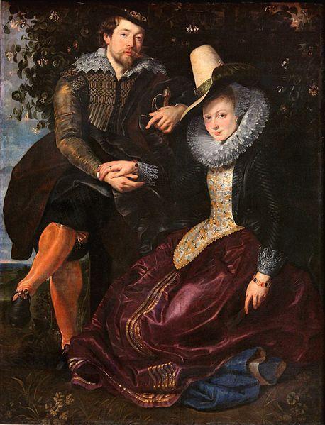 Peter Paul Rubens, Autorretrato con su esposa Isabella Brant, 178 x 136,5 cm, ca,1609,  Alte Pinakothek, Múnich.