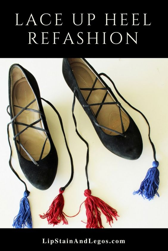 DIY Boho Shoe Refashion Full Tutorial