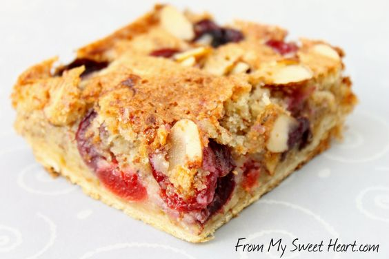 Cherry Almond Pastry Bars from my friend Anne; FromMySweetHeart.com