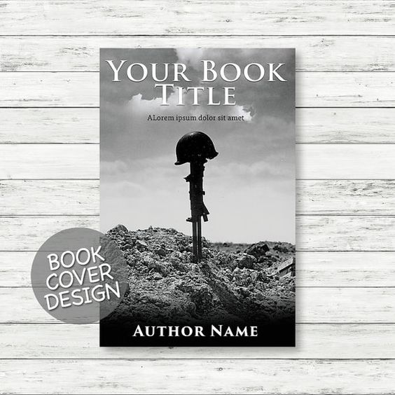 Book cover design / ebook cover / kindle cover / cover design ready for print / war novel cover + matching back cover + spine design