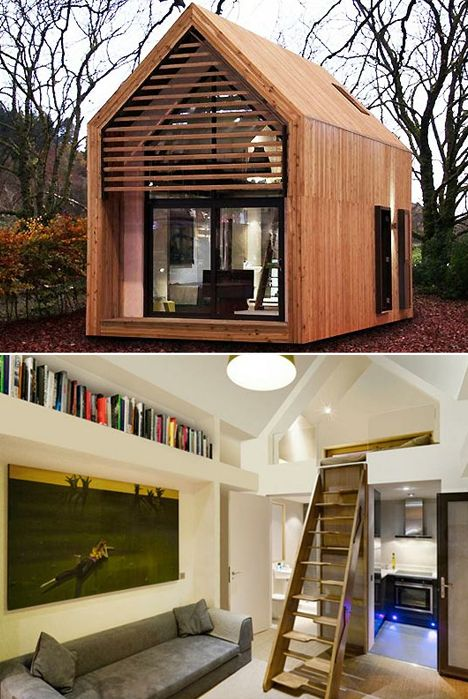 Along with shipping container homes, this compact living house is amazing.  And I love the sleeping space. Climbing up to bed is an under-rated joy.