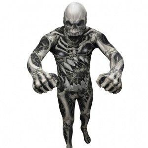 Faites sensation  à une soirée Halloween avec ce déguisement de squelette, très…