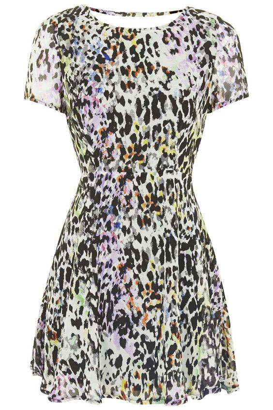 Photo 1 of **Leopard Print Tea Dress by Goldie