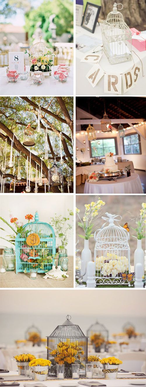 la cage oiseaux comme une decoration magique wedding inspiration pinterest vintage. Black Bedroom Furniture Sets. Home Design Ideas