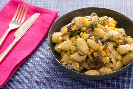 Fresh Gnocchi & Maitake Mushrooms with Sweet Corn & Thyme Brown Butter