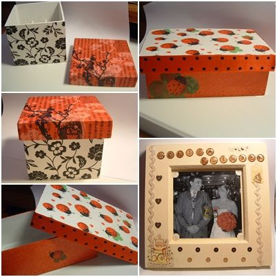 box and picture frame
