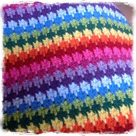 Larksfoot Crochet Baby Blanket Pattern : Ravelry: Project Gallery for Larksfoot Stitch Afghan ...