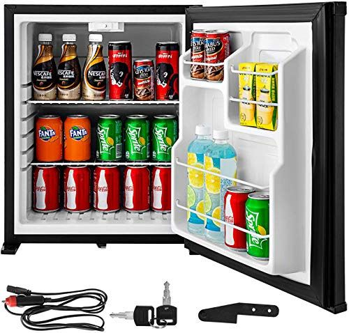 New Vbenlem 1 8cu Ft 110v 12v Portable Refrigerator Ac Dc Silent Compact Absorption Fridge Mini Car Cooler Lock Reversible Door Apartment Hotel Hospital Campi In 2020 Mini Fridge In Bedroom Portable Refrigerator Car