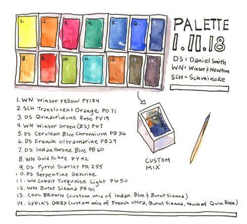 Basic Watercolor Palette 12 Essential Colors Watercolor