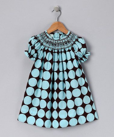 I don't have girls, but this is such a cute Brown & Turquoise Bishop Dress