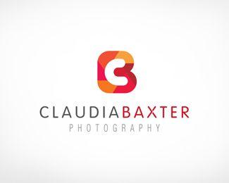 Claudia-baxter-photography-typographic-logo-Letter-b-logo-designs-inspiration-designmain-com