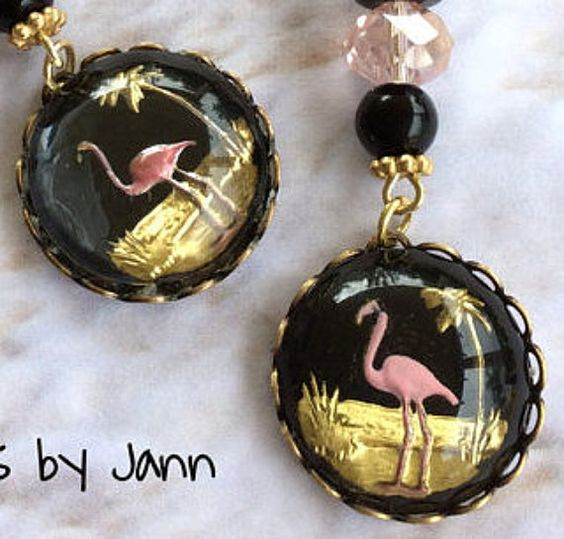 Flamingo Earrings .. Clever Designs by Jann by CleverDesignsbyJann