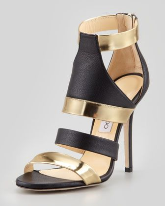 Besso Mixed-Leather Sandal ~ Jimmy Choo