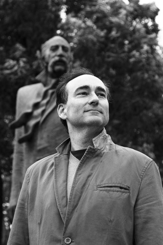 This photo was taken by the immensely talented Boston photojournalist, Aaron Spagnolo. I ran into Aaron and Nanore Barsoumian, his profoundly gifted journalist wife (The Armenian Weekly) in Yerevan, Armenia. Standing behind me is. . .William Saroyan. I couldn't resist.
