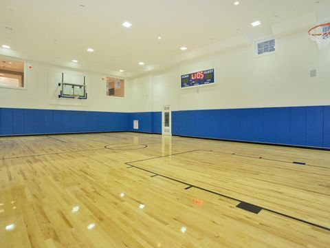 Bergen Co Property Taxes 5th Highest In Nation For Single Family Homes Report Finds Stone Mansion Indoor Basketball Court Mansions