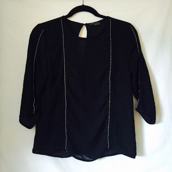 Zara Sheer Black Blouse 3