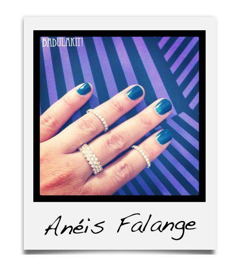 Anel de Falange básico, entre os mais vendidos do site!  Anel Falange Bling R$12.00