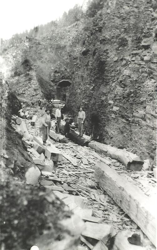 Construction of Tunnel #8 on the KVR Railway