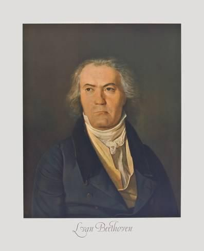 Collectable Print: Portrait of Beethoven Wall Art by Ferdinand Georg Waldmüller by Ferdinand Georg Waldmüller : 34x28in