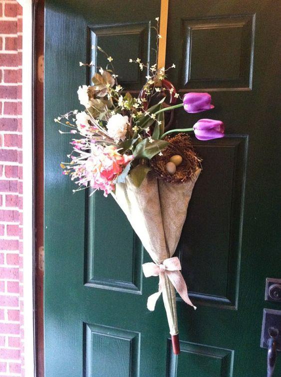 Umbrella Wreath  Spring & Summer Wreath  by GreatwoodFlorals, $60.00