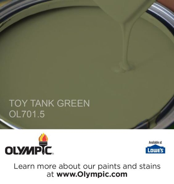TOY TANK GREEN OL701.5 is a part of the greens collection by Olympic® Paint.