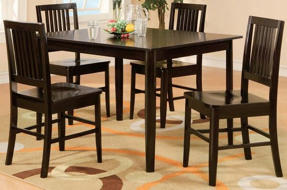 Take a fresh approach to casual dining with the Curtis Collection. This dinette set in wengeFinishis flanked byslat backchair in wooden seat. Made of select hardwoods andVeneers. Contact J n J Furniture today for more information on this item and others at 713-733-1022 or check us out online www.jjfurniture.yolasite.com